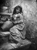 Portrait of a Sicilian Girl Impressão fotográfica