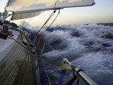 Sailboat in Rough Water, Ticonderoga Race Fotografisk trykk av Michael Brown
