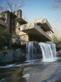 Fallingwater, State Route 381, Pennsylvania Foto af Wright, Frank Lloyd