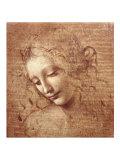 Vrouwenhoofd, ca 1508 Print van  Leonardo da Vinci