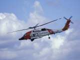 Coast Guard helicopter Demo at the Seattle Maritime Festival, Washington, USA Photographic Print by William Sutton