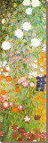 Flower Garden (detail) Stretched Canvas Print by Gustav Klimt