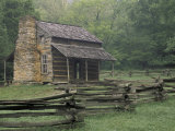 John Oliver Cabin in Cades Cove, Great Smoky Mountains National Park, Tennessee, USA Photographic Print by Adam Jones