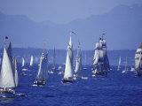 2002 Tall Ships Festival in Elliott Bay, Seattle, Washington, USA Photographic Print by William Sutton