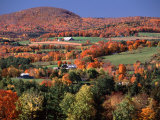 Farmland near Pomfret, Vermont, USA Photographic Print by Charles Sleicher