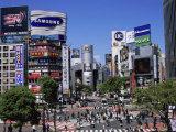 Shibuya, Tokyo, Japan Lámina fotográfica