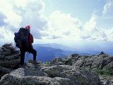 Backpacking on Gulfside Trail, Appalachian Trail, Mt. Clay, New Hampshire, USA Fotografisk trykk av Jerry & Marcy Monkman