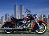 1990 Heritage Classic Harley Davidson, New York City, USA Lámina fotográfica