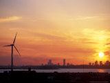 Wind Turbine in Hull, Boston, Massachusetts, USA Impressão fotográfica por Jerry & Marcy Monkman
