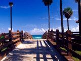 Boardwalk, South Beach, Miami, Florida, USA Photographic Print by Terry Eggers