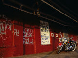 Harley Davidson Heritage Softail Lámina fotográfica