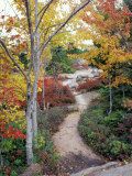 Penobscot Mountain Hiking Trails in Fall, Maine, USA Photographic Print by Jerry & Marcy Monkman