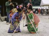 Shichi-Go-San Festival, Japan Lámina fotográfica