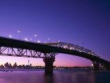Auckland Harbour Bridge and Hauraki Gulf, Auckland, North Island, New Zealand Lámina fotográfica