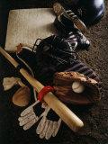 Baseball Still Life Lámina fotográfica
