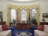 Oval Office the White House Washington, D.C. USA Lámina fotográfica