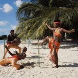 Limbo Dance, Barbados Lámina fotográfica