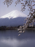 Lake Kawaguchi, Mount Fuji, Japan Lámina fotográfica