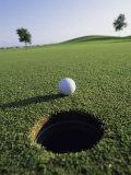 A Golf Ball Just Short of the Hole Fotografie-Druck