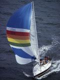 Sailboat with A Colorful Sail Lámina fotográfica