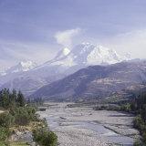 Huandoy, Huascaran and Alpamayo Mountains, Peru Lámina fotográfica