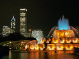 Buckingham Fountain, Grant Park, Chicago, Illinois, USA Reproducción de lámina sobre lienzo
