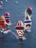Colorful Sailboats Lámina fotográfica