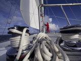 Ropes on a Sailboat Lámina fotográfica