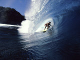 Surfer Riding a Wave Fotoprint