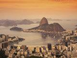 Sugar Loaf Mountain, Guanabara Bay, Rio de Janeiro, Brazil Lámina fotográfica