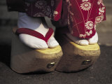 Geta Shoes, Japan Lámina fotográfica