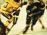 Ice Hockey Team Playing Fotografie-Druck
