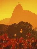 Mount Corcovado, Rio de Janeiro, Brazil Lámina fotográfica