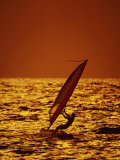 Windsurfer Silhouette Photographic Print