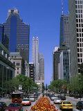 North Michigan Avenue Chicago Illinois USA Lámina fotográfica