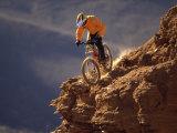Ciclismo de montaña Lámina fotográfica