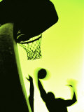 Basketball Silhouette Lámina fotográfica