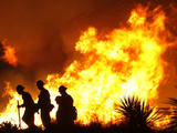 Firefighters Work the Sawtooth Complex Fire Lámina fotográfica
