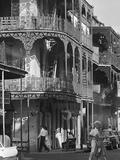 Balkon Kunstschmiedearbeit im französischen Viertel von New Orleans Fotografie-Druck