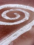 Robert Smithson's Spiral Jetty in the Great Salt Lake Fotografisk trykk