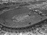 Fans Jam Philadelphia's Jfk Stadium During the Live Aid Concert Fotografie-Druck