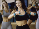 Group of Young Women Exercising in An Aerobics Class Photographic Print