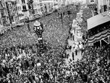 Mardi Gras Revelers Gather at Canal Street Photographic Print