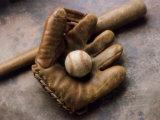 Baseball Still Life Reproducción de lámina sobre lienzo