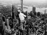 Construction for the Empire State Building's New 217 Foot Multiple Television Tower Fotografie-Druck