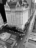 This General View Shows the Plaza Hotel on Fifth Avenue and Central Park South Reproduction photographique