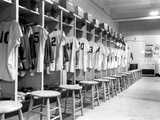 The Locker Room of the Brooklyn Dodgers Fotografisk tryk