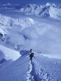 Mountain Climbing on Denali, Alaska, USA Photographic Print by Lee Kopfler