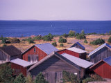 Boathouses of the Aland Islands, Finland Reproduction photographique par Nik Wheeler