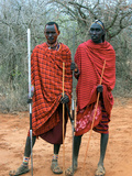 Maasai Warriors Lámina fotográfica
